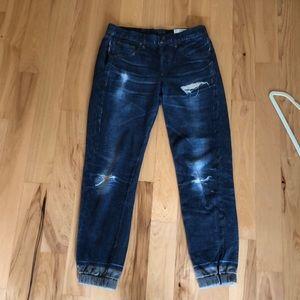rag & bone Pants - Rag & Bone 'Pajama Jean' denim print joggers